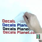 HowTo apply stickers (vinyl decal) lettering.