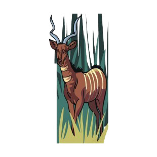 Gazelle in scrubland listed in more animals decals.