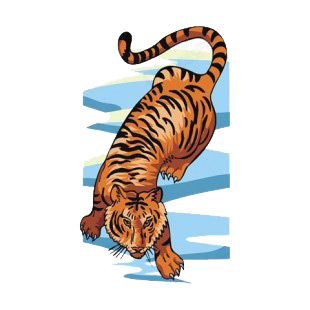 Tiger walking on ice listed in more animals decals.