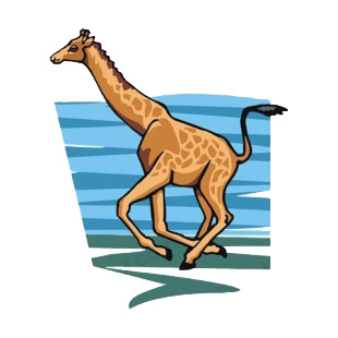 Giraffe running listed in more animals decals.