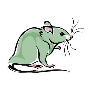 Mouse with long whiskers  listed in more animals decals.