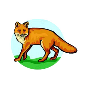 Fox with fierce look listed in more animals decals.