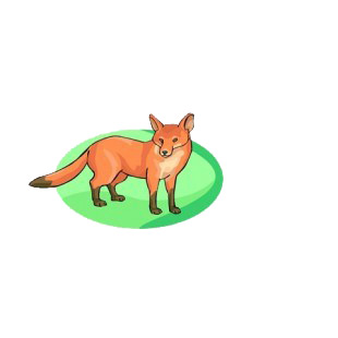Red fox listed in more animals decals.