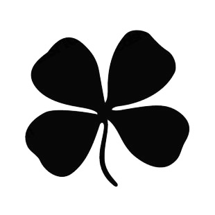 Four leaf clover listed in saint patrick's day decals.