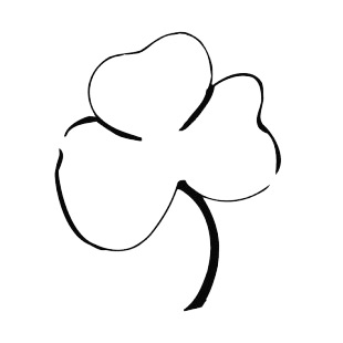 Shamrock listed in saint patrick's day decals.