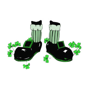 Leprechaun feets listed in saint patrick's day decals.