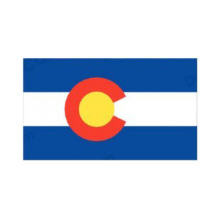 Colorado state flag  listed in states decals.