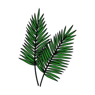 Palm Leaves Easter Decals Decal Sticker 10758