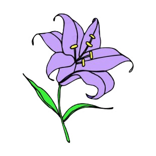 Purple easter lily listed in easter decals.