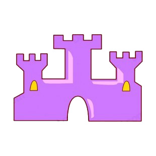 Purple castle listed in buildings decals.