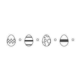 Easter eggs border listed in easter decals.
