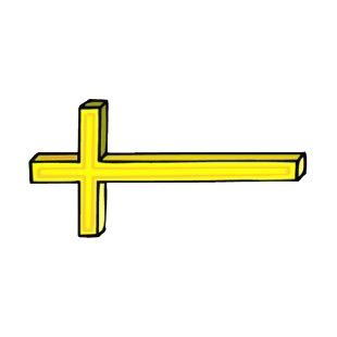 Yellow christian cross listed in crosses decals.