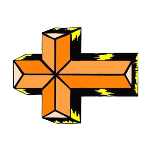 Black and gold cross listed in crosses decals.