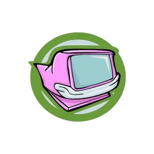Monitor in pink cadillac shape  listed in business decals.