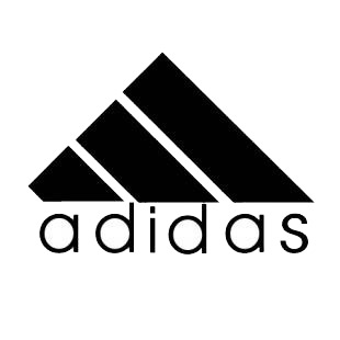 Adidas logo listed in famous logos decals.