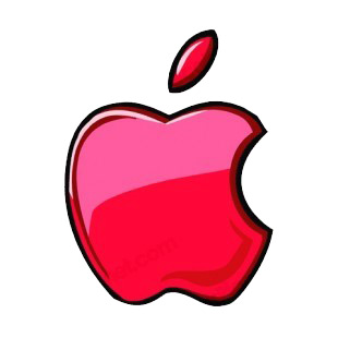 Red apple logo listed in business decals.