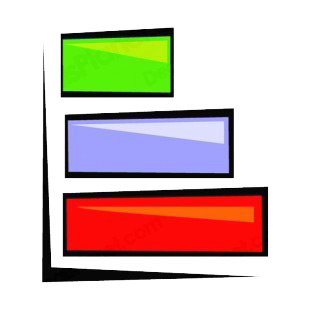 Multi colors bar graph listed in business decals.