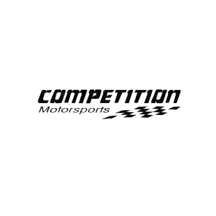 Competition Motorsports listed in performance logo decals.
