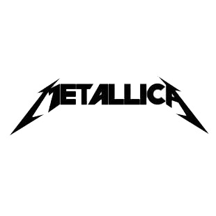 Metallica logo listed in famous logos decals.