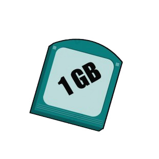 1 GB jaz disk listed in business decals.