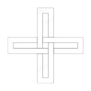 Interlaced cross listed in crosses decals.