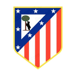 Atletico Madrid soccer team logo listed in soccer teams decals.