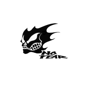No fear skull solid listed in performance logo decals.