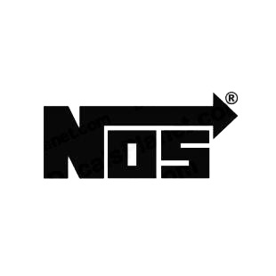 NOS listed in performance logo decals.