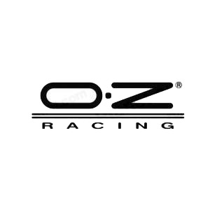 OZ Racing listed in performance logo decals.