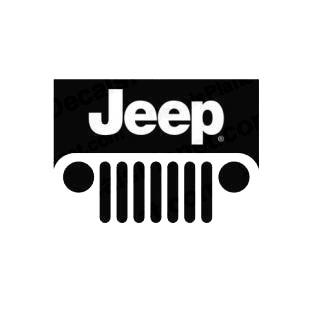 Jeep Logo Jeep Transport Models Decal Sticker 1321