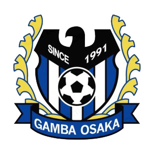 Gamba Osaka soccer team logo listed in soccer teams decals.