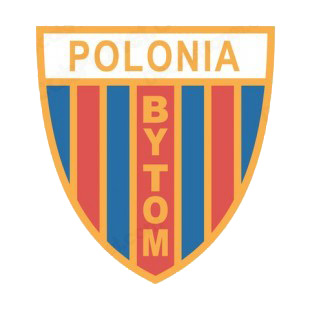 Polonia Bytom soccer team logo listed in soccer teams decals.