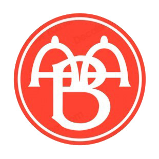 Aalborg Boldspilklub soccer team logo listed in soccer teams decals.