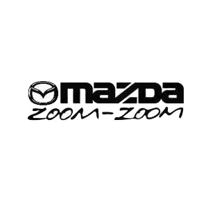 mazda zoom zoom mazda transport (models), decal sticker #1367