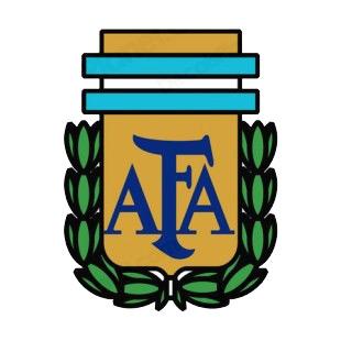 argentine football association afa logo soccer teams decals decal rh decalsplanet com apa logo af logo