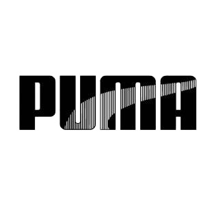 Puma stripe logo listed in famous logos decals.