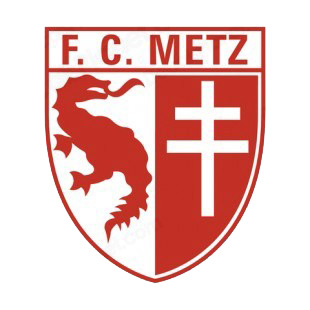 FC Metz soccer team logo listed in soccer teams decals.