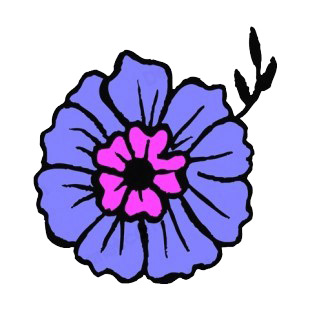 Purple and blue flower listed in flowers decals.