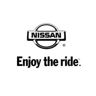 Nissan logo enjoy the ride nissan transport (models), decal sticker ...