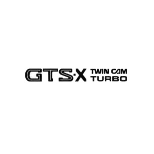 Nissan GTS-X Twin Cam Turbo listed in nissan decals.