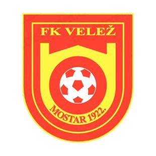 fk velez mostar soccer team logo soccer teams decals