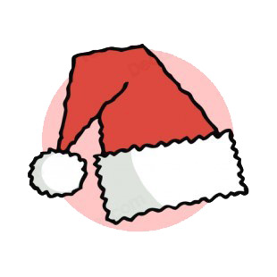 Santa hat with pink backround  listed in characters decals.