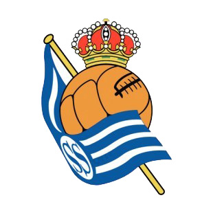 Real Sociedad soccer team logo listed in soccer teams decals.
