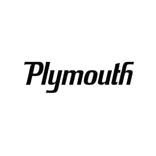 Plymouth listed in plymouth decals.