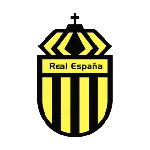 Real CD Espana soccer team logo  listed in soccer teams decals.