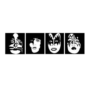Kiss faces Rare listed in famous logos decals.