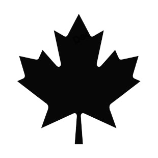 Maple leaf silhouette plants decals, decal sticker #15249