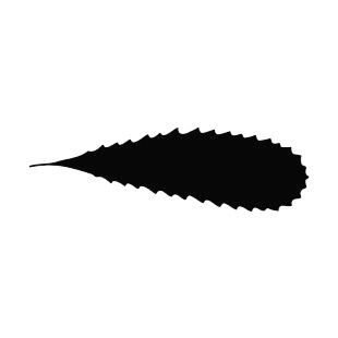 Toothed leaf silhouette listed in plants decals.