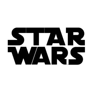 Star Wars logo listed in famous logos decals.