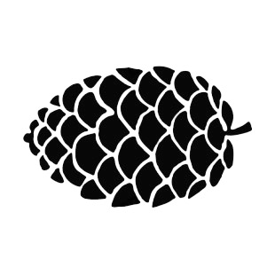 Pine Cone Silhouette Plants Decals Decal Sticker 15401